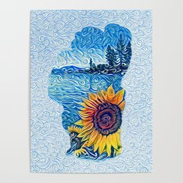 Lake Tahoe Sunflower Poster
