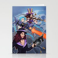 league of legends Stationery Cards featuring League of Legends Gunners by Arnix