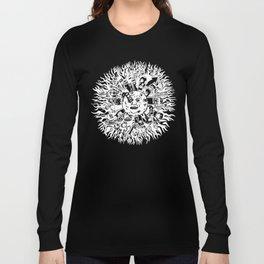 Monster Mandala Moon dark shirts Long Sleeve T-shirt
