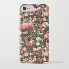 Floral and Flemingo Pattern iPhone 7 Slim Case