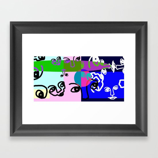 COLOURLESS Framed Art Print