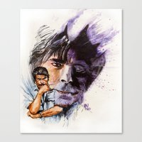 stephen king Canvas Prints featuring Stephen King by kenmeyerjr