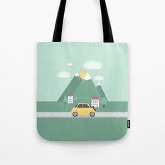 Little Yellow Car Tote Bag