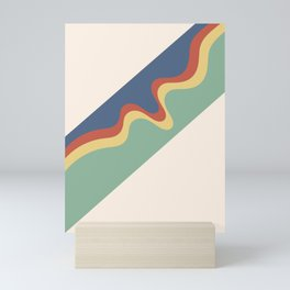 Retro Groovy Lines Mini Art Print