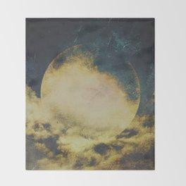 Golden moon Throw Blanket