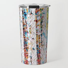 Bare trees colorful abstract pattern Travel Mug