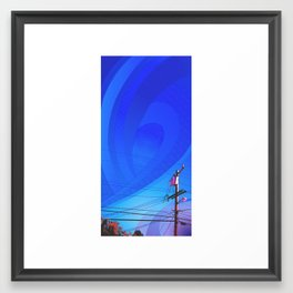 Power Lines Framed Art Print
