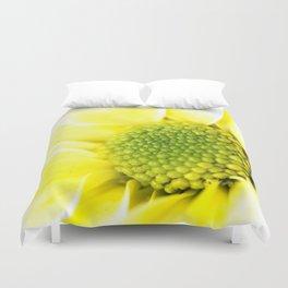 Yellow Daisy Macro Nature Photography Duvet Cover