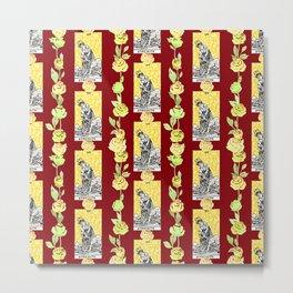 Strength - A floral tarot pattern Metal Print