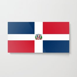 Flag of the dominican republic Metal Print