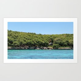 Cabin at Katipanan Reef Art Print