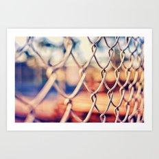 Fence Bokeh Art Print