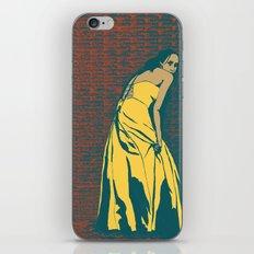 Lady in Yellow Dress iPhone & iPod Skin