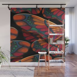 """A thousand colors of butterfly wings"" Wall Mural"