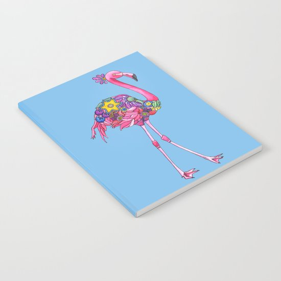 Fancy Felicity Flamingo (Blue) Notebook