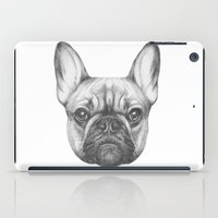 frenchie iPad Cases featuring Frenchie by Victoria Novak