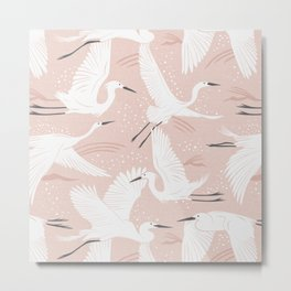 Soaring Wings - Blush Pink Metal Print