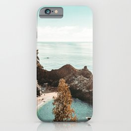 California Coast | Big Sur McWay Falls Coastal Camping Road Trip Tapestry Art Print iPhone Case