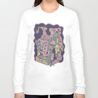 acid Long Sleeve T-shirts featuring acid lunch by Andrea Moresco