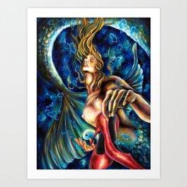 12 sign series - Pisces Art Print