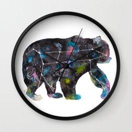 Ursa Watercolor Constellation Painting Wall Clock