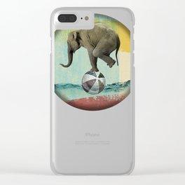 Elephant Balance Clear iPhone Case