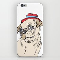 pug iPhone & iPod Skins featuring Pug by Madmi