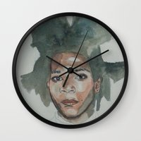 basquiat Wall Clocks featuring Basquiat by Danielle Lima