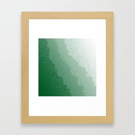 Green Cloudburst Framed Art Print