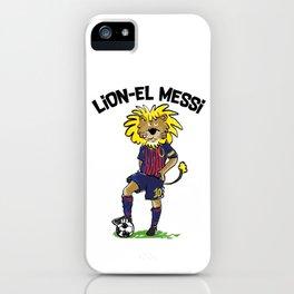 lion-el messi iPhone Case