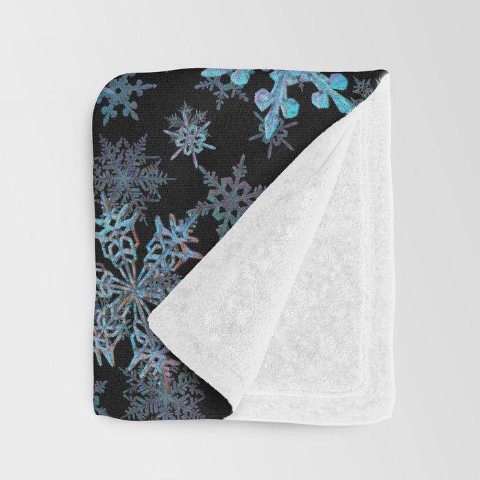 """Embroidered"" Snowflakes Throw Blanket"
