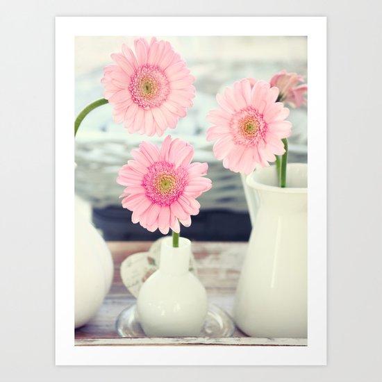 Pink Gerbera Stilllife Art Print