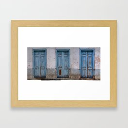 GOMERA DOORS Framed Art Print