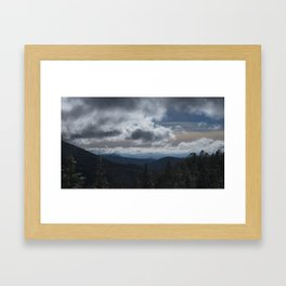 Clouds Over Santa Fe Framed Art Print