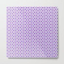Purple Delicate Flowers Metal Print