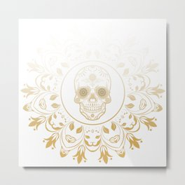 Sugar Mandala Metal Print