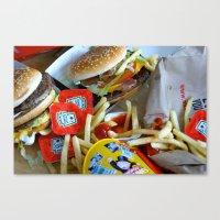 junk food Canvas Prints featuring Junk Food by Renatta Maniski-Luke