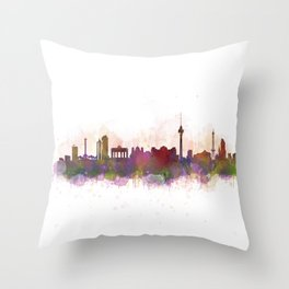 Berlin City Skyline HQ1 Throw Pillow