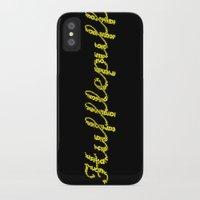 hufflepuff iPhone & iPod Cases featuring One word - Hufflepuff by husavendaczek