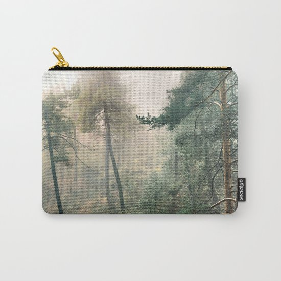 """""""Into the woods"""". Wandering into the fog Carry-All Pouch"""