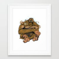 sasquatch Framed Art Prints featuring Sasquatch by Gregery Miller