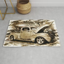1940 Ford Pick up Truck Rug