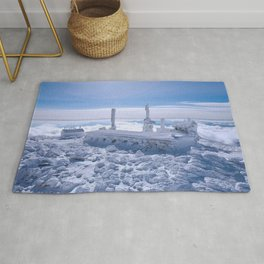 Mount Washington Observatory, Winter, New Hampshire Rug