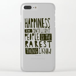 Hemingway: Happiness Clear iPhone Case