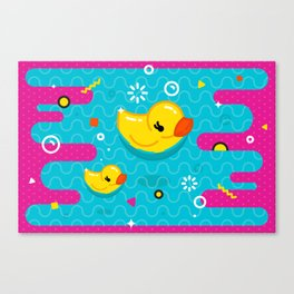 Rubber Ducky Party Time Canvas Print