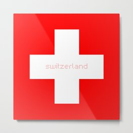 Swiss Cross - Swiss Flag Metal Print