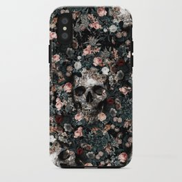 Skull and Floral pattern iPhone Case