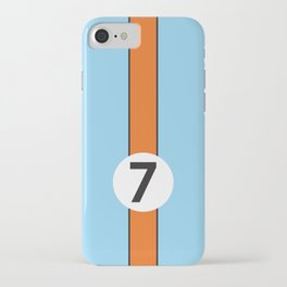Gulf Racing Ford GT40 Le Mans 24 Hours iPhone Case