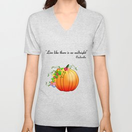 """""""Live like there is no midnight"""" Cinderella Unisex V-Neck"""