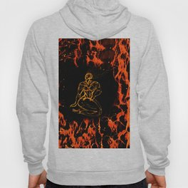 Breathing in Red Fire Hoody
